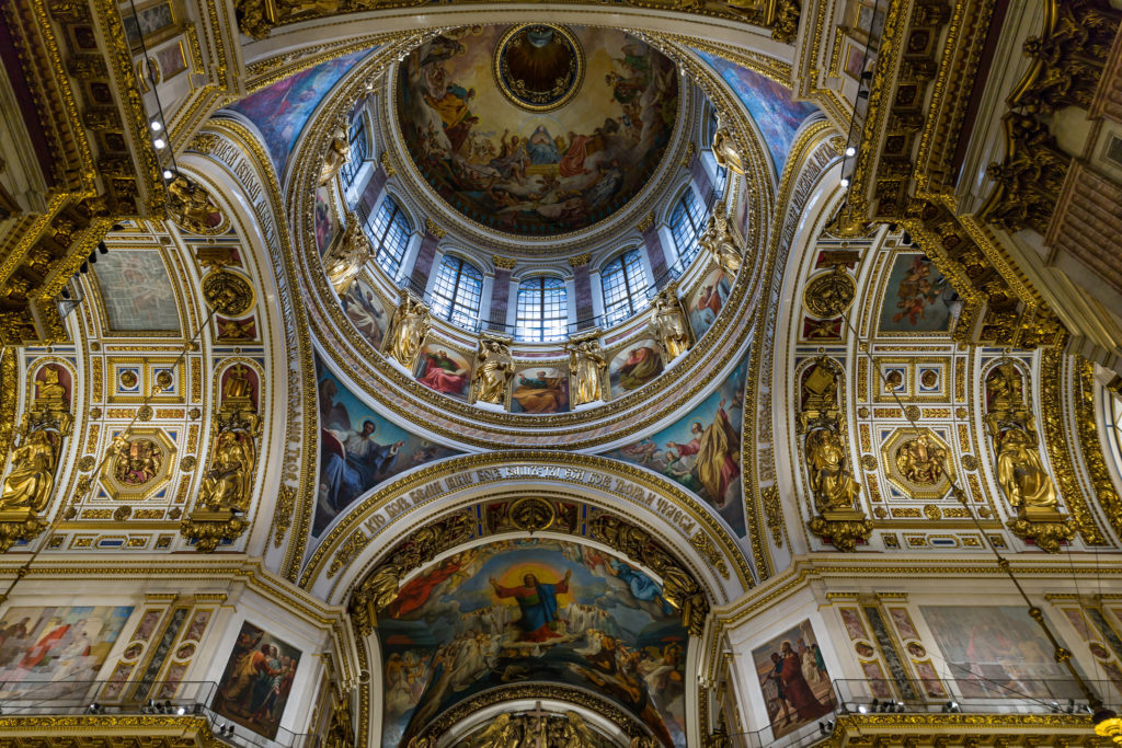 Detail of the interior of St Isaac's Cathedral in St Petersburg. Photo credit: Ninara